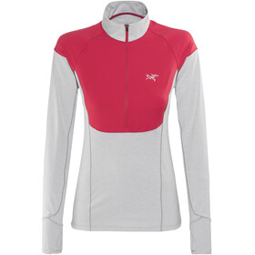Arc'teryx Taema Zip Neck LS Shirt Women Rad/Athena Grey